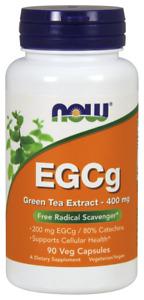 NOW Foods EGCg Green Tea Extract 400mg ANTIOXIDANT Cellular Health 90 04/2024EX