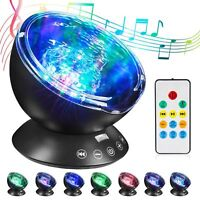 AU Calming Autism Sensory LED Light Projector Relax Ocean Night Music Projection