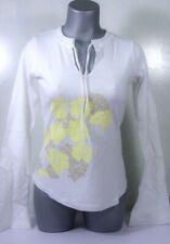 ROXY QUIKSILVER WOMEN'S LS WHITE FLOWERED TOP T SHIRT SWEATSHIRT UK 6-12 BNWT