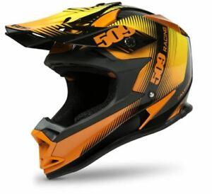 509 Altitude Snowmobile Helmet, Black Fire Edition Orange and Black, Small, SM