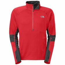 The North Face Momentum Thermal 1/2 Zip Jacket - Men's Size Medium - Red / Grey