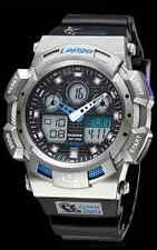 Pasnew SPORTS Watch, Dual Time Digital/Analog,100M waterproof - Silver Black/NEW