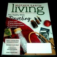 mother Earth Living Magazine Nov/Dec 2018 Holiday Issue ~ Zero-Waste Gift Wrap +