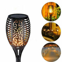Solar Torch Lights 96 LED Flickering Lighting Dancing Flame Garden Lamp