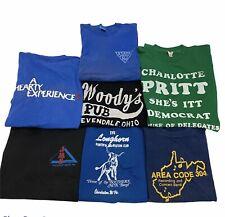 New listing Vintage 80s/90s Random Graphic T-shirt Lot Of 7 Screen Stars Single Stitch Usa