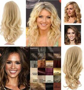 NEW WOMENS HALF HEAD CURLY WAVY SOFT HAIR WIG KOKO UK LILY Party wedding holiday