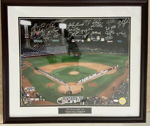 2007 Boston Red Sox Team Signed 16x20 Framed Game 1 World Series Photo Steiner