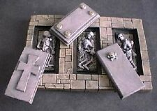 Miniature Unpainted Resin Grave Set  Ainsty Dwarven Forge D&D