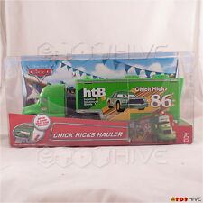 Disney Pixar Cars Chick Hicks Hauler HTB #86 Transporter Truck Trailer Mattel