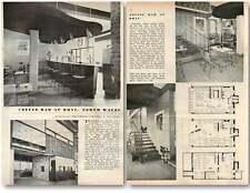 1958 caffè bar a rhyl North Wales Design, Piani