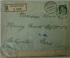 Switzerland Censored Mail to France: 1916 & 17 3x Registered Envelopes: Estaveye