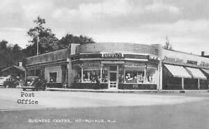 Ho-Ho-Kus New Jersey Business Center Post Office Pharmacy Postcard