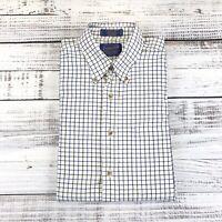 Mens Pendleton Broadway Gingham Button Front Long Sleeve Shirt Blue Plaid Sz M