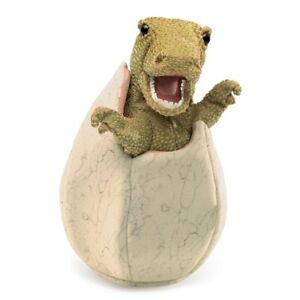 Dinosaur Egg Hand Puppet with Movable Mouth & Forelegs, Folkmanis MPN 3134