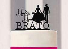 Kuchenstecker, Mr & Mrs mit Name, Brautpaar zur Hochzeit, Cake Topper