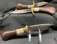 Custom Handmade Skinner Knife Set Of 3 ~ Wood, Bone & Brass Handle! L@@K!