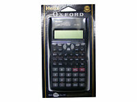 HELIX OXFORD SCIENTIFIC CALCULATOR & SLIDE COVER - BATTERY POWERED 240 FUNCTIONS