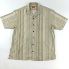 TOMMY BAHAMA Mens Beige/Brown Hawaiian Short Sleeve Shirt Button Up XXL