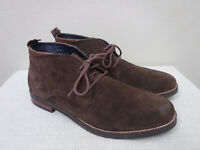 Men's COLE HAAN OGDEN STITCH 11.5 M Brown Suede Ankle Chukka Boots Oxfords Shoes