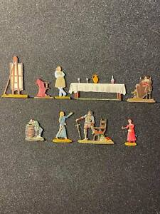 Flat tin soldiers, 9 figures, A set of items for creating tin dioramas.