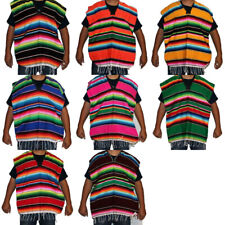 Youth Mexican Sarape Poncho Costume Mexican Fiesta Cinco de Mayo Child 6 - 12 yr
