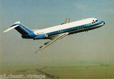 Postcard 410 - Aircraft/Aviation Fokker Fellowship F-28 NLM CityHopper