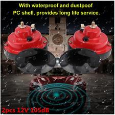 2pcs 12V 105dB Auto Car Truck Loud Dual Tone Snail Electric Air Horn Universal