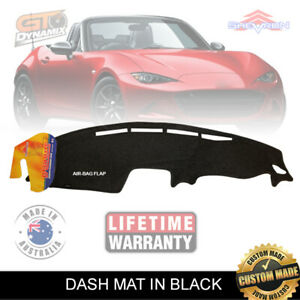 DASH MAT MAZDA MX-5 MX5 ND Roadster GT AIRBAG MAY/2015 to 2019 in BLACK DM1420