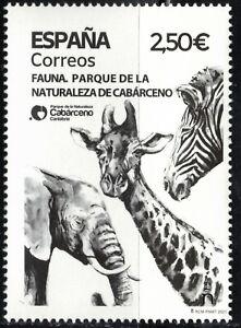 2021 Spain Natural Park Cabarceno Fauna Elephant Giraffe Zebra MNH