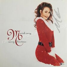 Mariah Carey MERRY CHRISTMAS Signed RED Vinyl LP w/ Beckett Cert of Authenticity