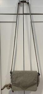 KIPLING Shoulder Crossbody Bag Beige-Tan w/ Monkey Charm