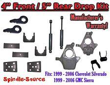 "4"" - 5"" Drop Kit 1999 - 2007 Chevy Chevrolet Silverado GMC Sierra 1500 + Shocks"