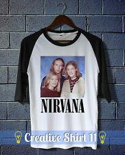 Hanson Nirvana Funny Pop Rock Music Parody Band Raglan T-shirt size S to 4Xl