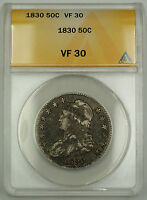 1830 Capped Bust Silver Half Dollar 50c Coin ANACS VF-30 Better Coin*