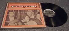 "Brother Oswald & Charlie Collins ""That's Country"" ROUNDER RECORDS LP #0041"
