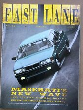 Fast Lane Magazine - April 1988 - Maserati 430, 228 & Royale Nissan 300ZX