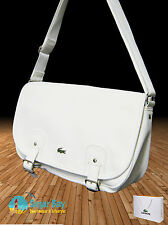 LACOSTE MESSENGER SATCHEL Shoulder Bag ED Classic 15 White AUTHENTIC