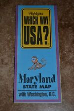 "Highlights Which Way Usa? Maryland W/Washington D.C State Map ""Vgc"""