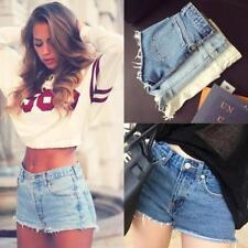 Denim Shorts Plus Size High for Women