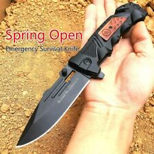 Couteau pliant Tactic Spring Assisted Open Folding Knife Black Knife Kalashnikov