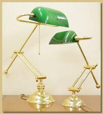 Lampada da Tavolo,Ottone, Mod. Ministeriale Old Piccola articolo LT/103P verde