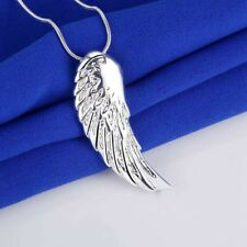 925 Silber Schutzengel Anhänger Engel Flügel Amulett Glücksbringer Feder Kette