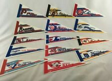 Lot of 14 MLB Baseball Mini Felt Pennant 9X4 inch - Expos Dodgers Cubs Braves