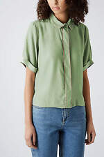 Topshop Short Sleeve Classic Cropped Tops & Shirts for Women