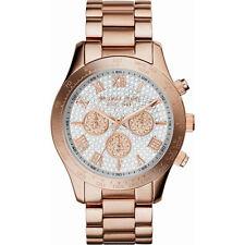 Michael Kors Mid-Size Rose Golden Stainless Steel Layton Glitz Watch, MK5946