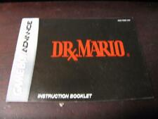 DR. MARIO / DOCTOR NINTENDO GAME BOY ADVANCE INSTRUCTION BOOKLET / MANUAL ONLY