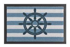Tapis de pied Paillasson Barre/gouvernail Bleu Blanc 40x60 cm