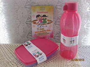 #New Kids Tupperware Lunch Set 500ml Bottle + Divided Box