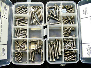 Ford #6 #8 Stainless Steel Oval Phillips Head Automotive Sheet Metal Trim Screws