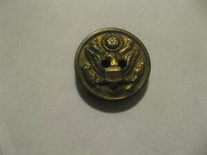 """USA Military Eagle Great Seal Vintage Small Brass Single Uniform 3/4"""" Button"""